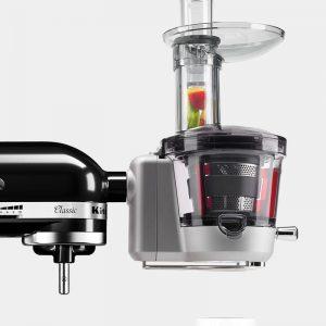 Acessoires centrifugeuse sur un kitchenaid classic 5K45SS noir onyx