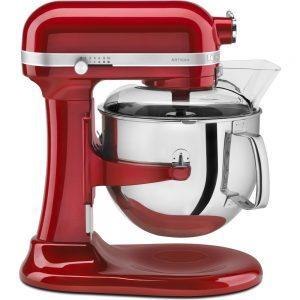 robot pâtissier kitchenaid professionnel rouge