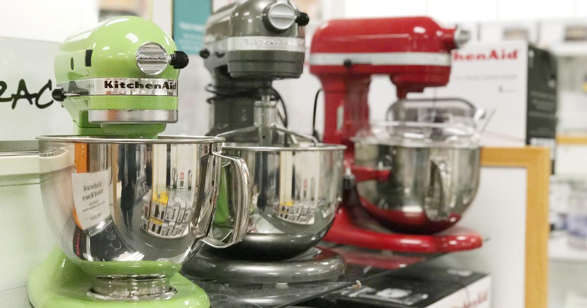 3 couleurs de robots kitchenaid professionnel